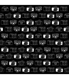 Plurielles lámina piel sintética cámara fotos 30x30 cm Ha pi little fox