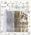Toga Kit casas calendario de adviento oro plata